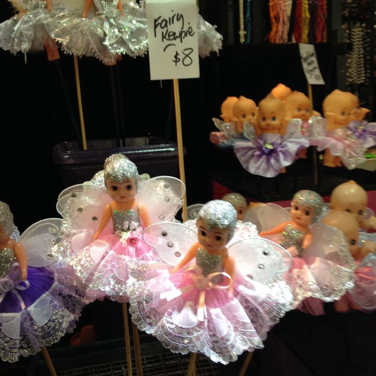 Kewpie dolls on canes, Sydney Royal Easter Show