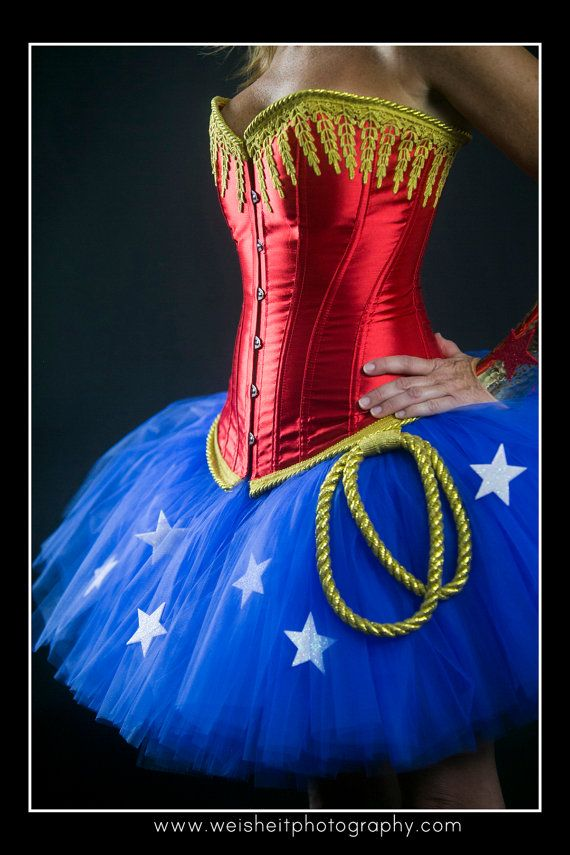 SIMPLY WONDERFUL Wonder Woman Inspired Tutu and by goodygoodytutus