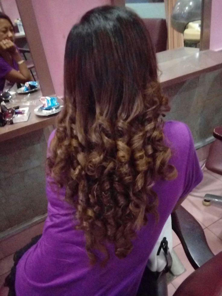 Curly half size salon #larich @#kuta