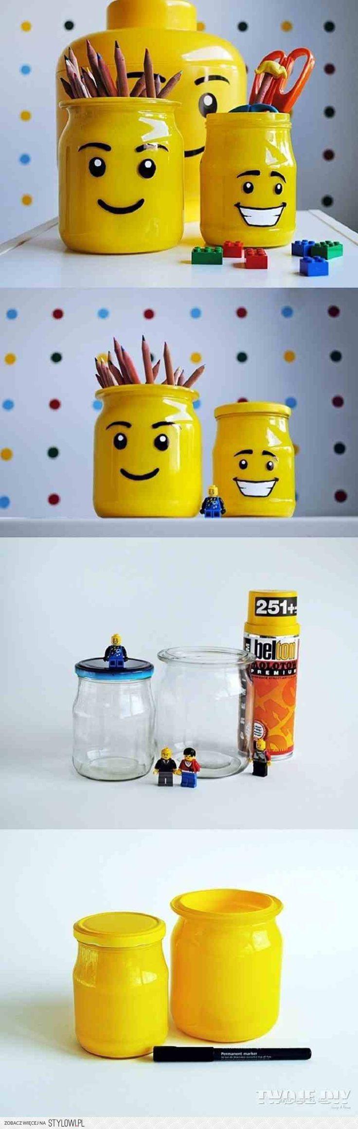 słoiki Lego :) Cudooooo... na Stylowi.pl                                                                                                                                                                                 More