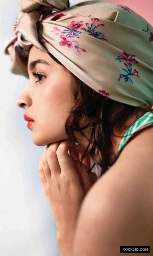 Alia Bhatt on Cover Page of Magazine ELLE January 2014