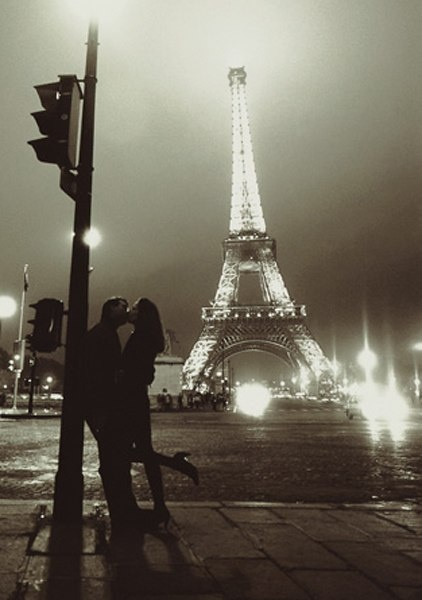 Happy to say I was in love with my husband in Paris :) Deffinetly kissed all over that city :)