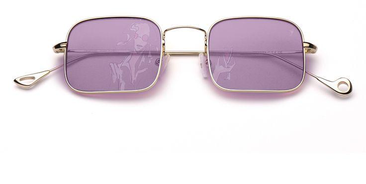 eyepetizer mod. CONTA .Montatura in acciaio ultraleggero .lenti colorate filtro cat.1 UV400 .adatti alla guida diurna e notturna .prodotti in Italia
