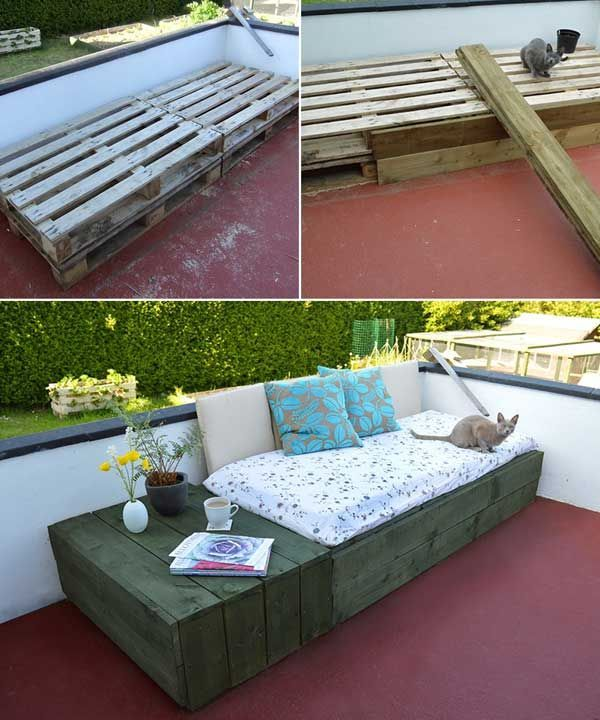 Pallet Day Bed: 31 Insanely Cool Ideas to Upgrade Your Patio This Summer