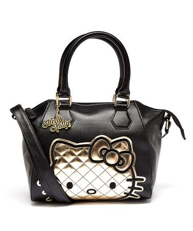 Look what I found on #zulily! Gold Quilted Hello Kitty Crossbody Bag by Hello Kitty #zulilyfinds