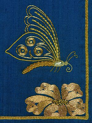 Goldwork butterfly: