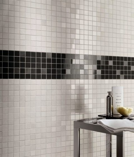 beautiful tile work. simple and elegant.
