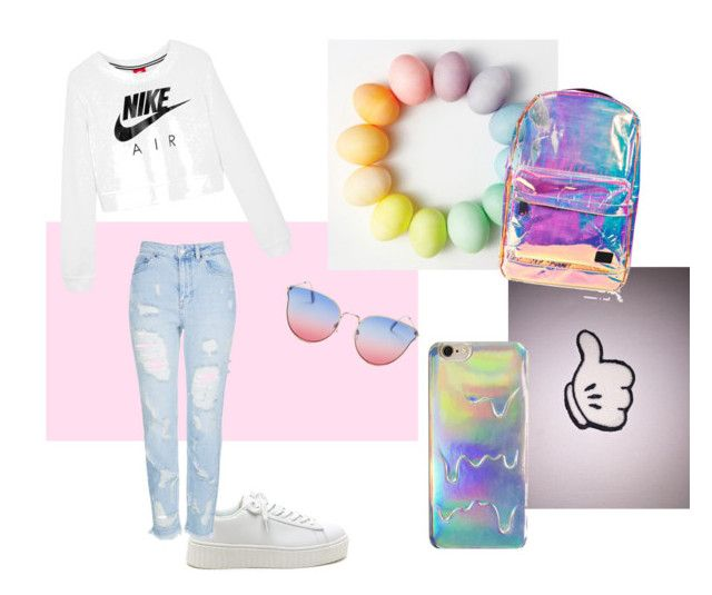 """""""This is stial/"""" by sun-ms on Polyvore featuring мода, Quay, Topshop, Spiral и NIKE"""