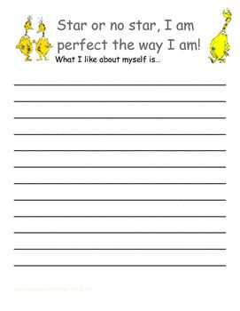 Dr. Seuss' Sneetches Writing Activity Bilingual English an