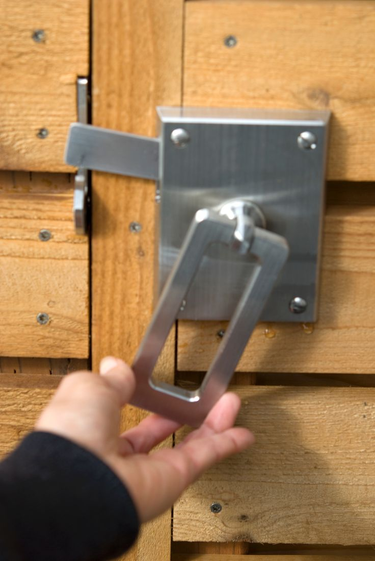 Elise Modern Gate Latch Double Gate Hardware Package   360 Yardware: Your  Source For Contemporary Gate Hardware And More!