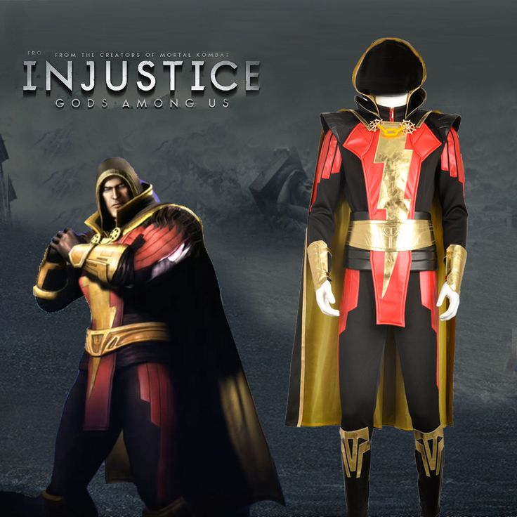 Injustice: Gods Among Us Captain Marvel Shazam Cosplay Costume Custom Made  #Handmade #CompleteOutfit
