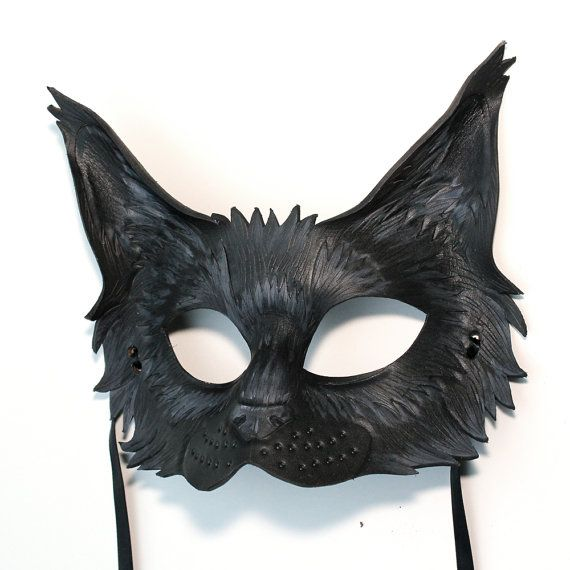 Black Cat - MADE TO ORDER Leather Mask.