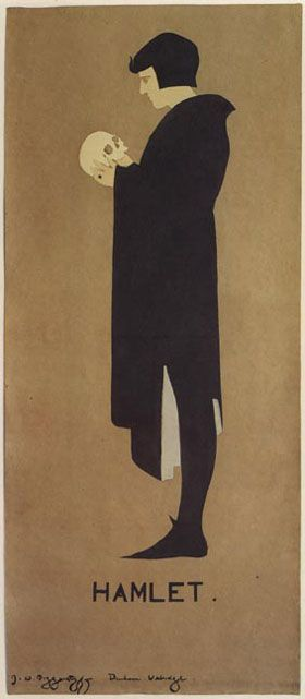 Hamlet poster by J and W Beggarstaff, the Beggarstaffs