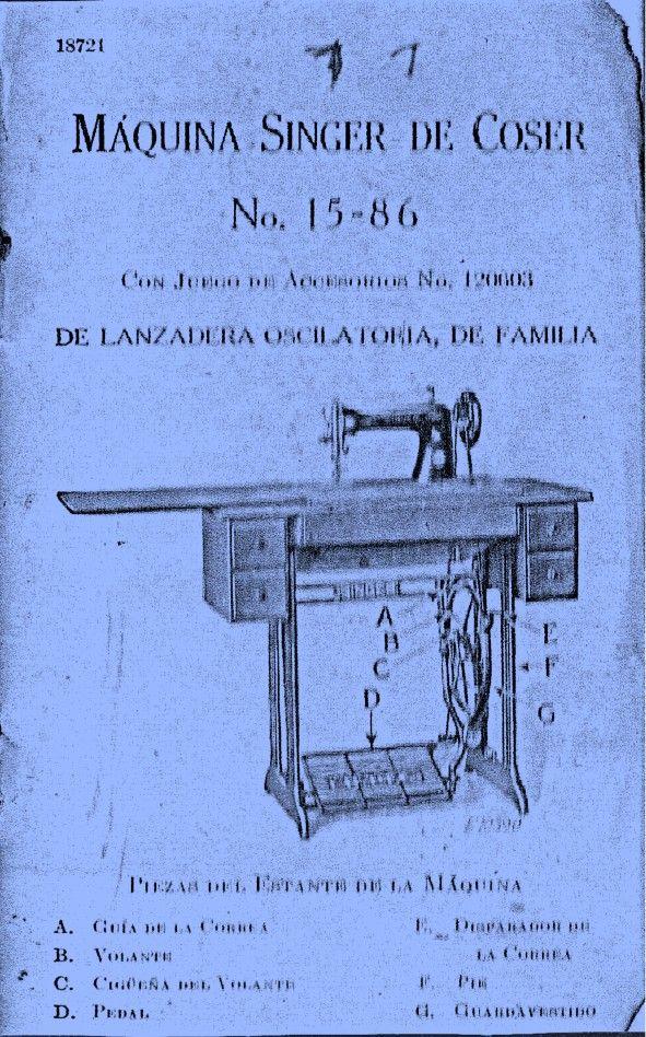 Máquina de coser Singer 15-86 antigua (1937)