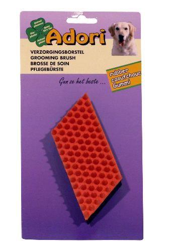 Adori rubber borstel  Rubber borstel met noppen. klein en groot voor hond en poes de rubber borstel is ideaal om uw dier mee in te zepen en te wassen. de noppenpalm zorgt voor massage. waardoor de productie en circulatie van natuurlijke oli  EUR 7.45  Meer informatie