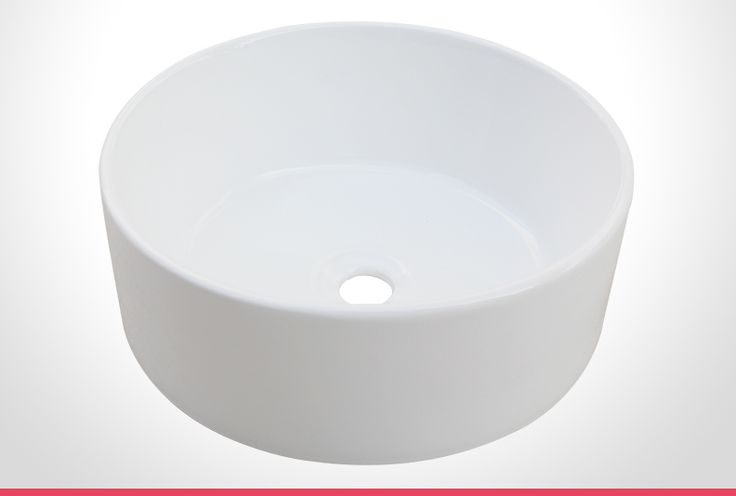 Rumba vitreous china round bathroom basin