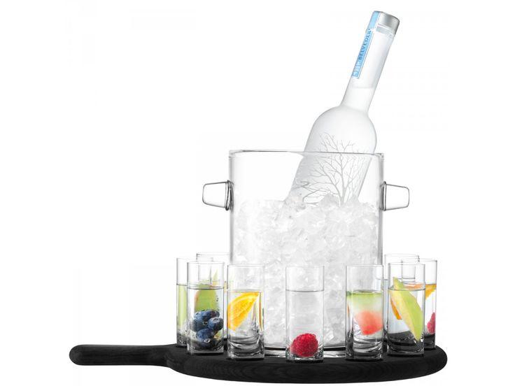 vodka serving set & paddle
