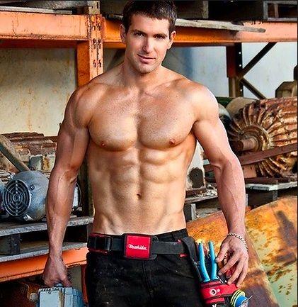 Handyman at work porn