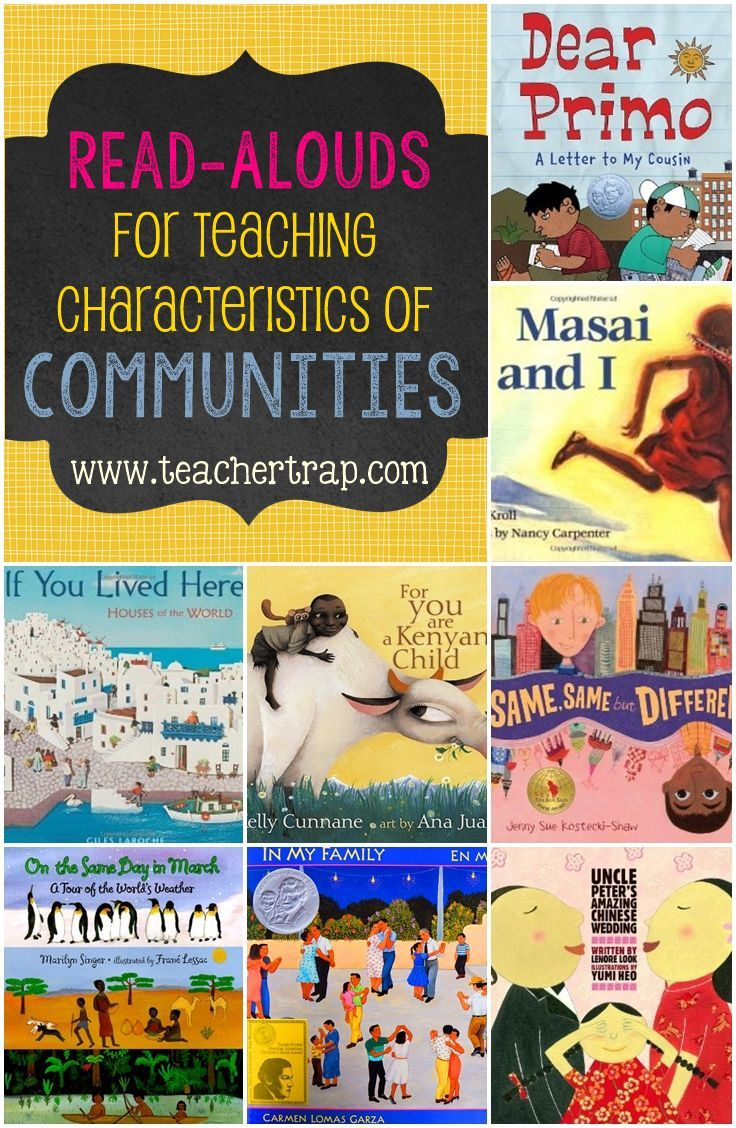 Collection of community read alouds plus anchor charts and more!