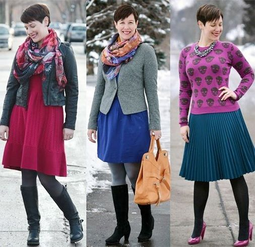 Styling tips for apple shaped girl