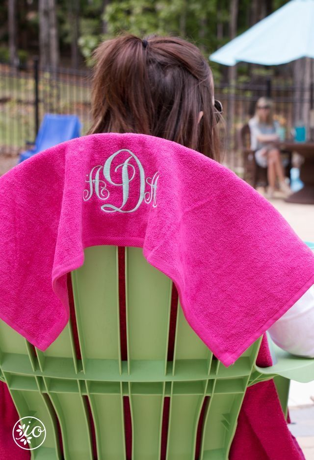 Monogrammed beach towels!!