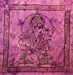 Wandtuch ✼ Bettüberwurf purple Ganesha