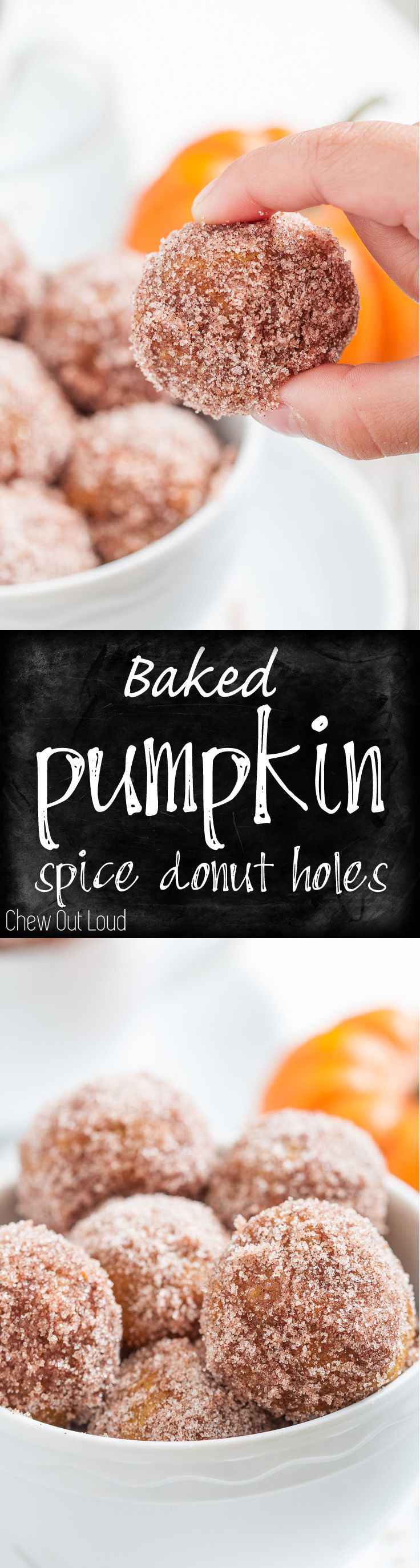 The perfect fall fun treat! Delicious for breakfast,  brunch, or snack. Baked, not fried. A fall favorite. #pumpkin #donut #breakfast