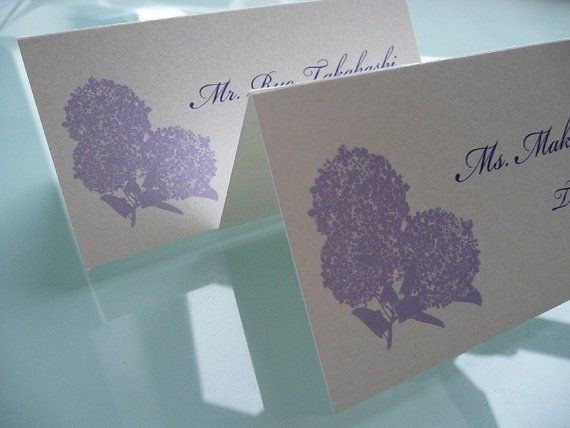 Hydrangea Placecards 100ct. $85    (or possible DIY craft project)