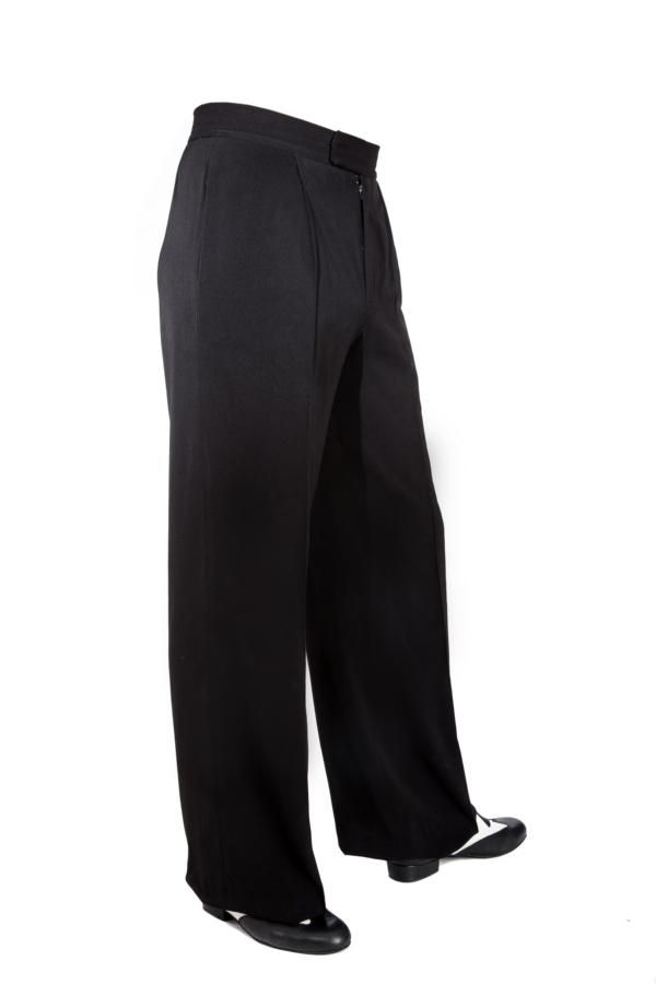 Tango Argentino Hose mit einer Bundfalte. Super chic! Tango trousers, ballroom trousers in black!