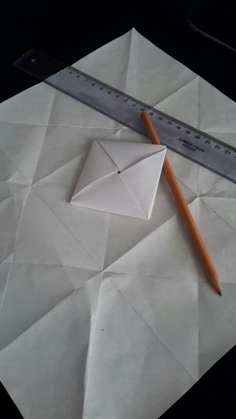 First try at origami envelope. Not bad