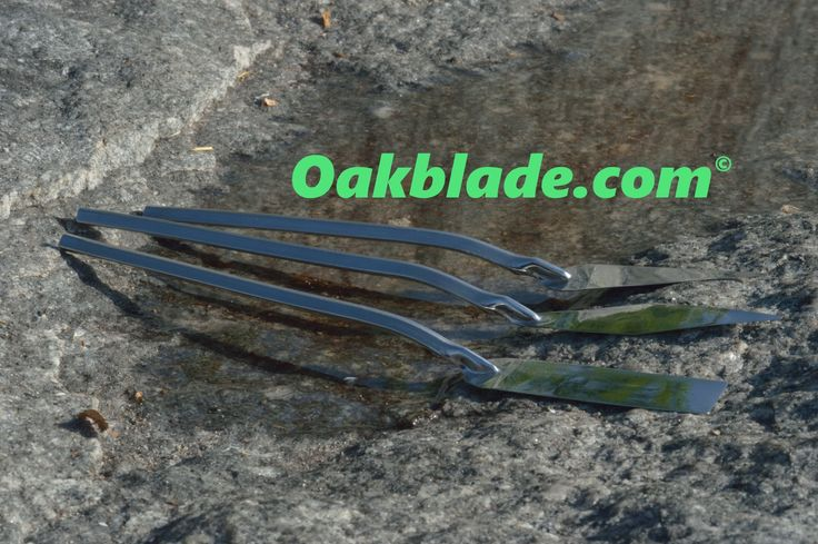 Hollow handled one piece all metal handmade palette knives by Ray Oak Hyder OAKBLADE.COM
