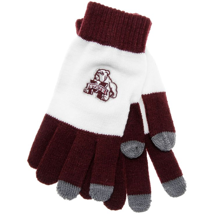 Mississippi State Bulldogs adidas Tech Gloves - Maroon