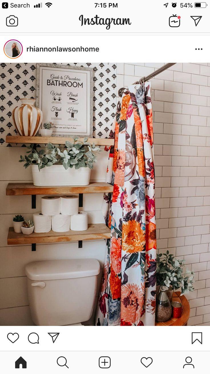 Design Inspiration – Pretty floral shower curtain   – chic