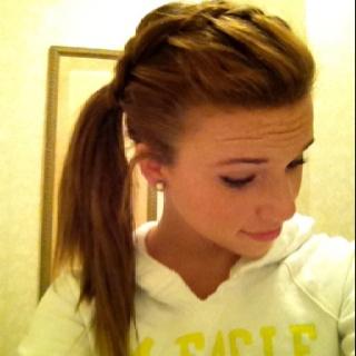 French braid side ponytail