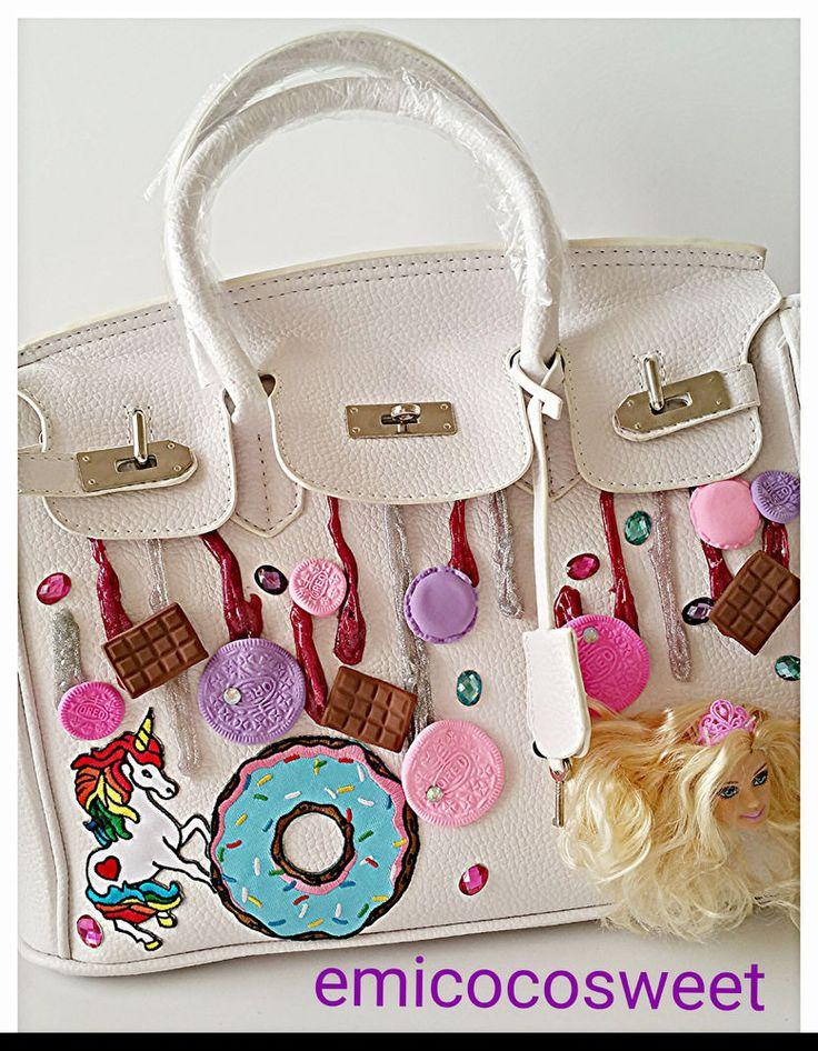 Barbie bag,Top handle bag,White top handle bag,Barbie Doll princess Bag,Cute bag