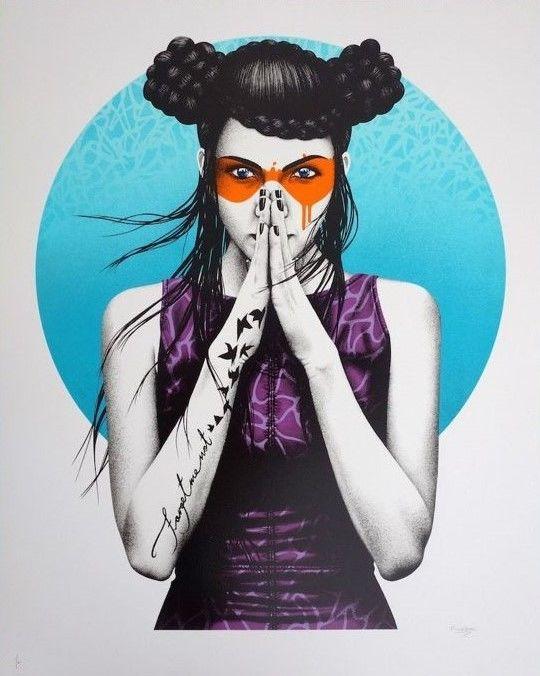 FinDAC - Vergiss  -Zeefdruk door FinDAC met een adellijke titel 'Vergiss'-90 x 72 cm-13 kleuren zeefdruk op 330 gsm Somerset Satin papier-Hand-gesigneerd en genummerd / 100-Stempel van GraffitiPrint-Jaar: 2017Een schoonheid nooit zijn ingelijst plat opgeslagen.Fin DAC maakt grote muurschilderingen van mooie vrouwen een nieuwe wending nemen op 19-eeuwse kunststroming de esthetiek. Hij is van mening dat deed de esthetiek dat kunst mag geen politieke of sociale het moet alleen een doel van…