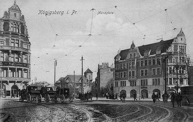 Кёнигсберг. Дома близнецы на Монетной площади, ок.1910 года .jpg
