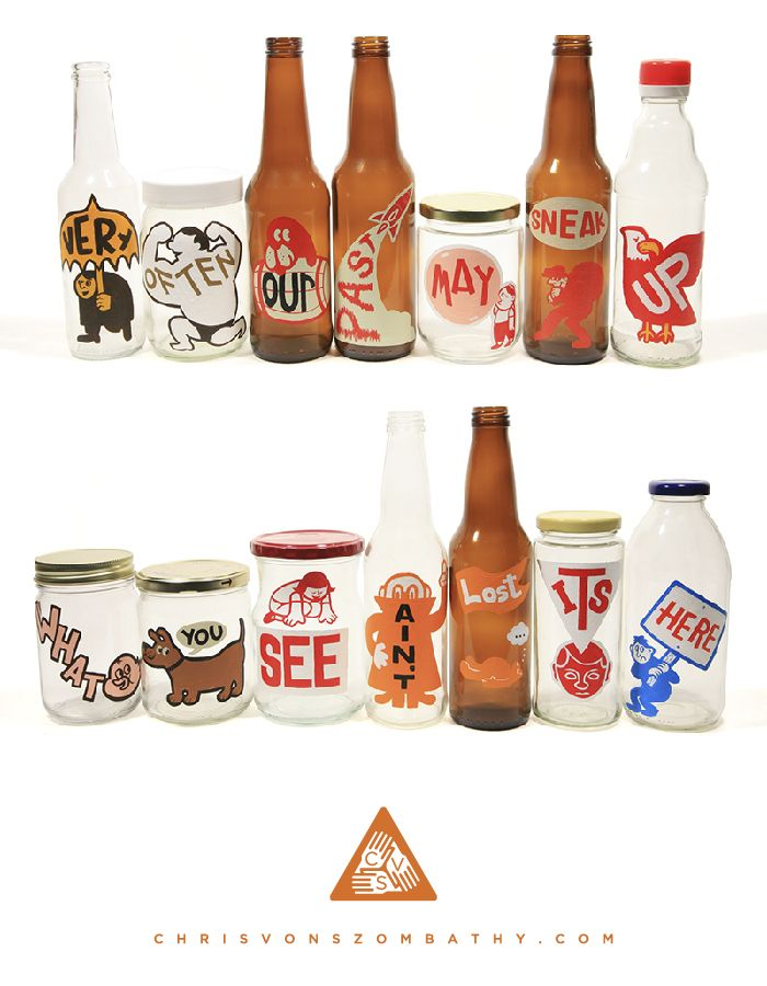 Poptimism Sets 5 & 6 (acrylic on glass or plastic) by artist Chris von Szombathy.