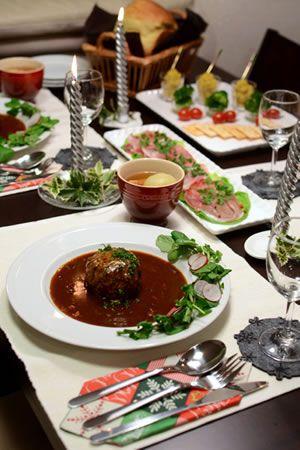 JUNAっちの食卓へようこそ!「難しくないクリスマスディナーのテーブル♪」 | お菓子・パンのレシピや作り方【corecle*コレクル】