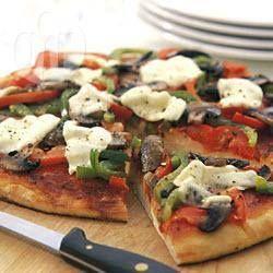 Mushroom & capsicum pizza