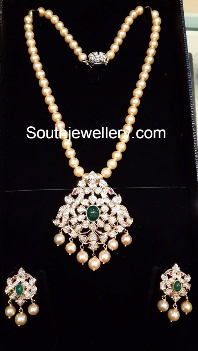 Beautiful 22 carat gold chains with matching pendant designs latest - Jewellery Designs Page 2 Of 950 Latest Indian Jewellery Designs 2017 22 Carat Gold Jewellery