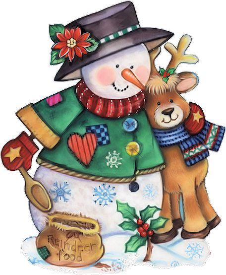*SNOWMAN ~ Feeding reindeer