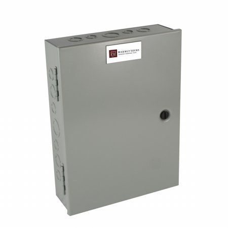 RLY-4PL, WarmlyYours Snow Melting Relay Panel - Small by WarmlyYours. $235.82. Height: 9. Width: 16. Warranty: 1 year limited. Great Gift Idea.. Length: 14. Virtually silent load switching panels are ideally suited for snow heating mats and cables. Power relays are rated for up to 24 amps and include nema1 rated metal enclosures. All relays utilize 120v coils. Available in 3 sizes: small (4 pole), medium (8 pole) and large (12 pole). Width: 16. Length: 14. Height: 9. Warranty: 1...