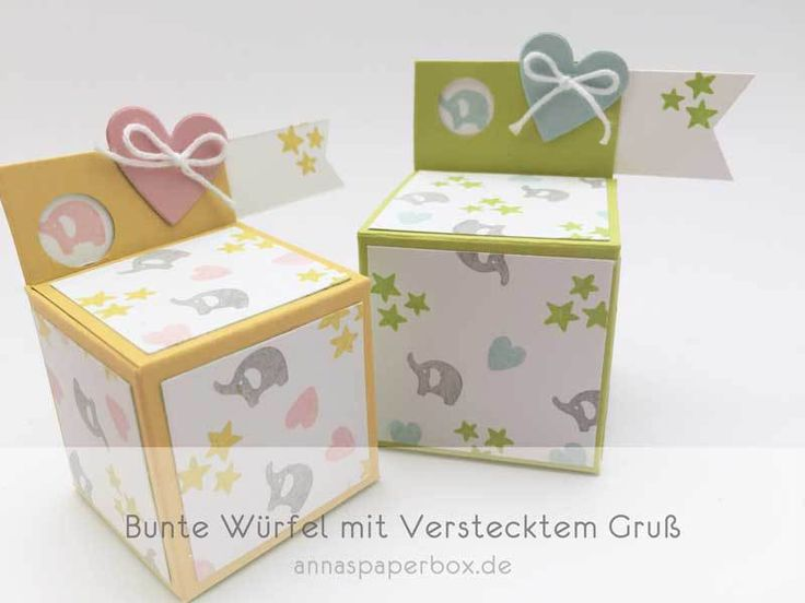 Würfel mit verstecktem Gruß - anna's paperbox