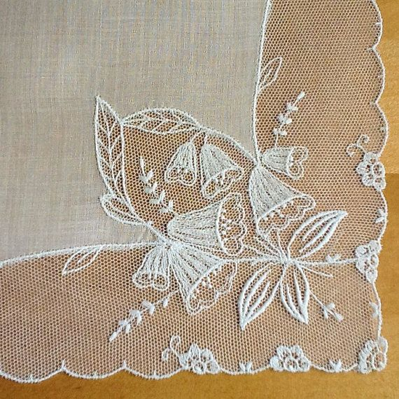 Lace Handkerchief Wedding Handkerchief Tambour by MadAboutHankies