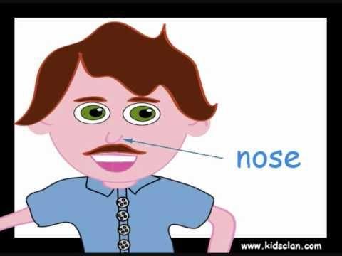 Mijn hoofd, Engelse Flashcards om aan kleuters Engels te leren, kleuteridee.nl , English flashcards; my head