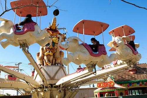 Kidom amusement park is located just outside the city center, Athens, Greece.