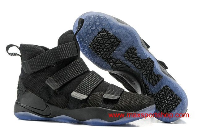 87effda8774405 ... Buying Nike LeBron Soldier 11 Prototype Cool All Black 2017 Basketball Shoes  Sale Online. Find  LEBRON JAMES ...