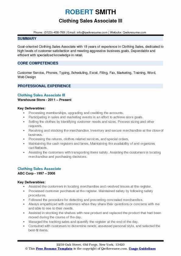 Resume clothing sales top essay editor for hire for phd