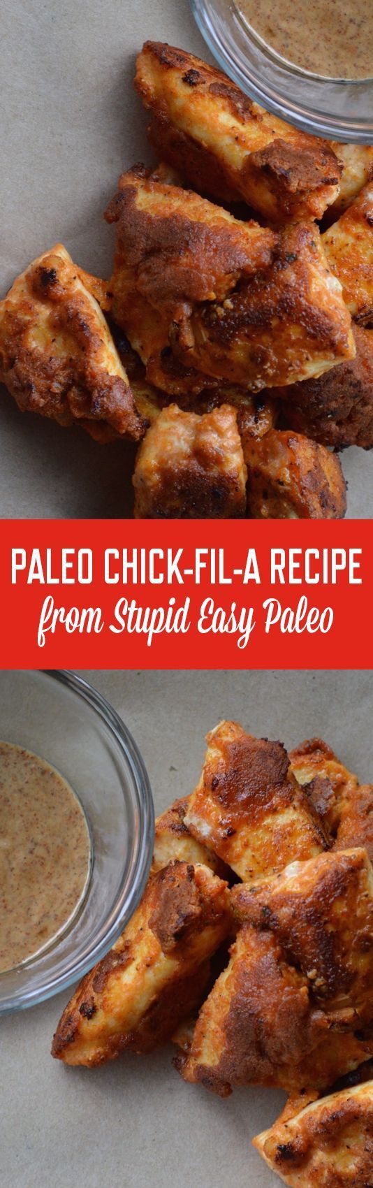 Make this Paleo Chick-fil-A at home for a healthier version of the fast food favorite! The secret is in the pickle juice!